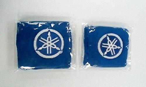 Par Yamaha Azul Moto Delantero y Trasero Depósito Líquido de Frenos Cubiertas Funda Calcetines