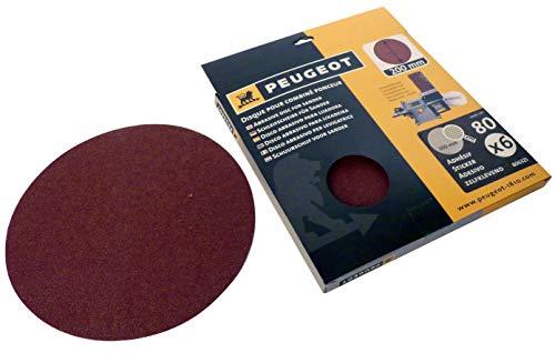 Peugeot Set 6Schleifscheiben Aufkleber für Kombischleifer, ENERGYSand 200ASP Ø 200mm, grau, 806321