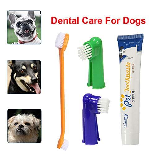 SeaStart Hunde/Katzen-Zubehör für Haustiere, Zahnbürste für Hunde, Welpen, Zahnpasta, - Roboter Füße Kostüm