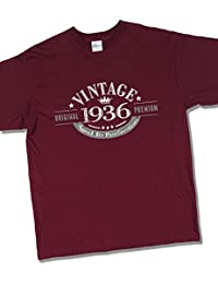 1936 Vintage Year - Aged to Perfection - 81 Ans Anniversaire T-Shirt pour Homme