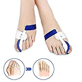 Divisore per separatore di punte Stecca di correzione per donne e uomini con separatore di dita incluse supporto per maniche e cuscini. Una coppia di cuscinetti ortopedici regolabili per protettori p