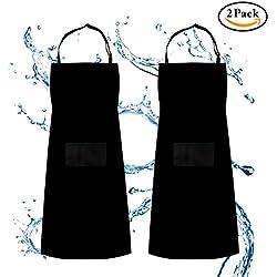 Pack 2 Delantales de cocina ajustables e impermeables