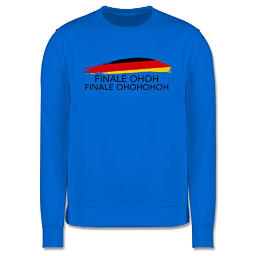 EM 2016 - Frankreich - Deutschland Finale OHOH - Herren Premium Pullover Himmelblau