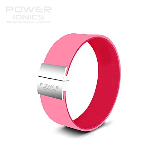 Power Ionics Bracelet Armband Powerarmband PowerIonics Ionenarmband Energie Wristband Magnet Armband Smart Sports Bracelet Wristband PRISM Power Ionics series Unisex Waterproof Ions and Germanium Sports Bracelet PT052S (pink/hotpink)