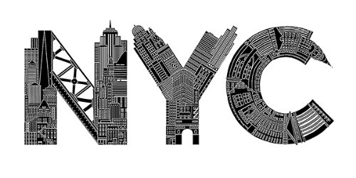 NYC by Robert Farkas Art Print poster