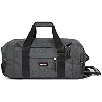 Eastpak Leatherface S Sac de voyage à roulettes, 55 cm, 38 L, Gris (Black Denim)