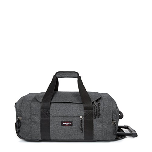 Eastpak Leatherface S Equipaje de ruedas, 38 litros, Negro (Black Denim)