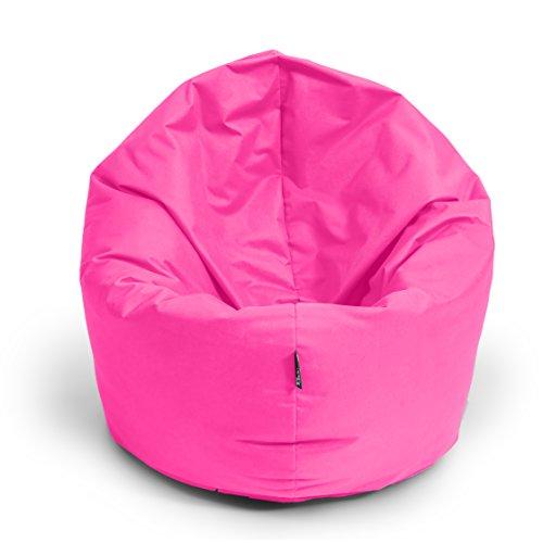 BuBiBag Sitzsack 2-in-1 Funktionen mit Füllung Sitzkissen Bodenkissen Kissen Sessel BeanBag (125 cm Durchmesser, pink)