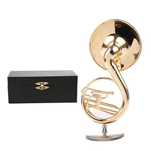 gen¨¦rico Sharplace Escala 1/12 Miniatura Modelo de Sousafón Instrumentos Musicales Accesorio de Casa de Muñeca