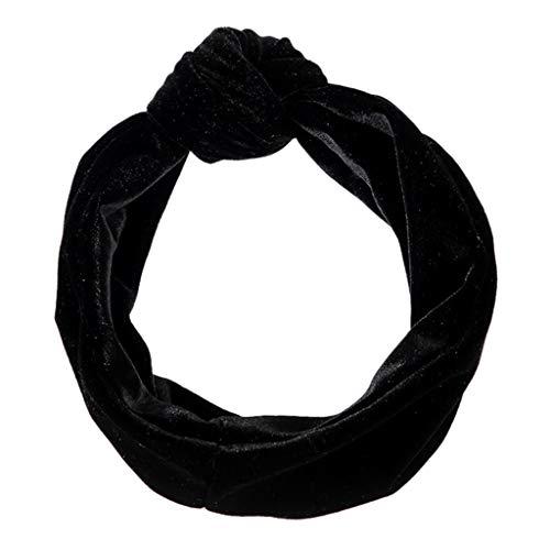 iCerber Stirnband Damen Elastische Einfarbig, Frauen Stirnbänder Dehnbar Haarband Weiche Turban-Kopf-Verpackungs für Alltag Yoga Sport Mode