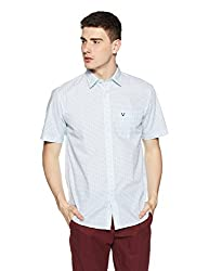 Allen Solly Mens Casual Shirt (8907587678658_AMSH1G01978_38_ Blue With White)