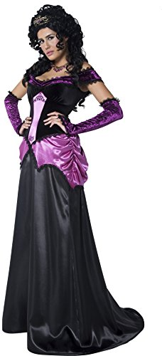 Smiffys, Damen Gräfin Nocturna Kostüm, Kleid und Handschuhe, Größe: S, - Gräfin Nocturna Kostüm