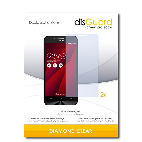 2 x disGuard® Bildschirmschutzfolie Asus ZenFone Go Schutzfolie Folie