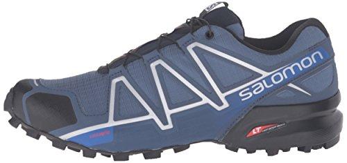 Salomon Men's Speedcross 4 Trail Running Shoes, Blue (Slateblue/black/blue Yonder), 9 UK