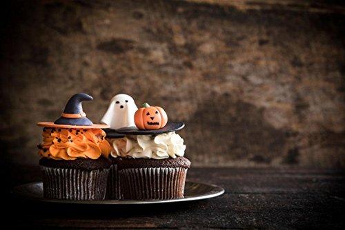 Foto Hintergrund 7x 150massiv Braun Fotografie Hintergrund Dunkles Holz Boden mit Halloween Kuchen Hintergründe für Foto Studio