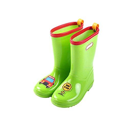 Haodasi Mädchen Jungen Kinder Anti-Rutsch Rainboots Regen Stiefel Children Gummi Wasserdicht Snow Rain Shoes Regen Schuhe Green