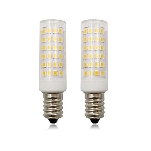 E14 dimmbare LED-Leuchtmittel, Kerzenform, 9 W, SES (80 W, kleine Edison-Schraube, Halogenlampe), 220 V-240 V, 2 Stück, warmweiß, E14, 9.00W 220.00V