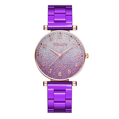 Anglewolf Damen Quartz Uhr Analoge Quarz Edelstahl Armbanduhr Einfache Casual Armbanduhr Fashion Uhren Watch Armbanduhr Paar Beobachten Einfache Watches Damen-Armbanduhr