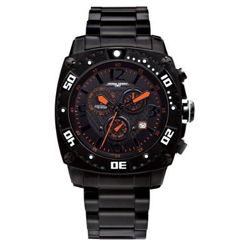 Jorg Gray - JG9800-12 - Montre Homme - Quartz Chronographe - Bracelet Acier Inoxydable Noir