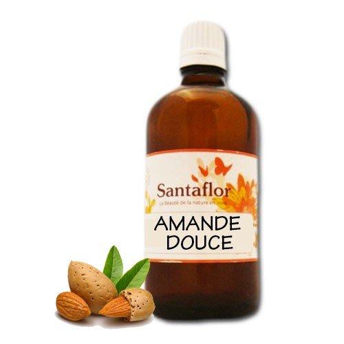 Santaflor - Huile végétale Amande douce BIO 100 ml Spray