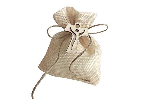 Irpot - 24 sacchetti beige 768x835 + 24 decorazioni legno + rotolo juta + bigliettini (tao 1130018)
