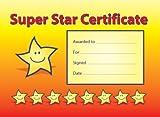 A5 Reward certificates: 'Super Star Certificate': pack of 20