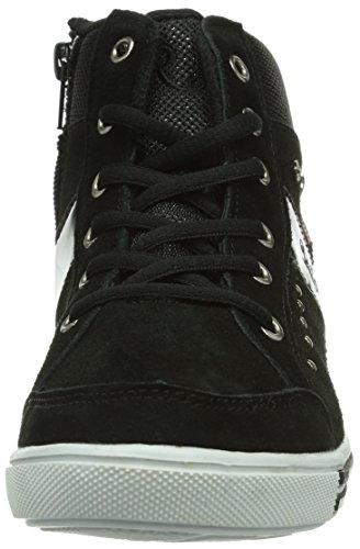 Rebella 160160, Chaussures de ville à lacets fille Noir (Rz (Sch)