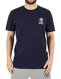 Franklin & Marshall Herren Links oben Logo-T-Shirt, Blau