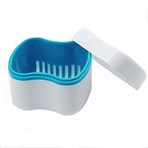 Gaodear, Zahnersatz-Bad mit Spülkorb, Aufbewahrungsbox für Zahnprothesen