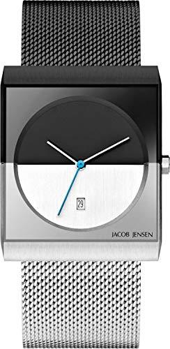 Jacob Jensen Reloj Analógico para Hombre de Cuarzo con Correa en Acero Inoxidable JJ515