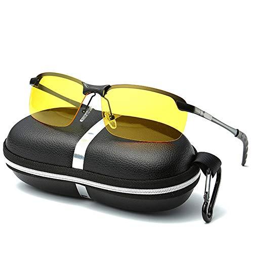 Gläser Nacht fahren sonnenbrille polarisierte uv cut nachtsicht sonnenbrille leichte teardrop sonnenbrille angeln fahren für schnee sport männer frauen ( Color : Schwarz , Size : Kostenlos )