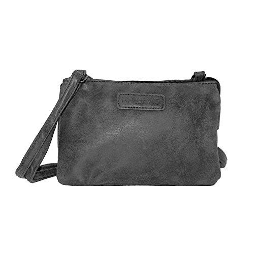 New Bags kleine Ausgehtasche in verschiedenen Farben Dunkelgrau