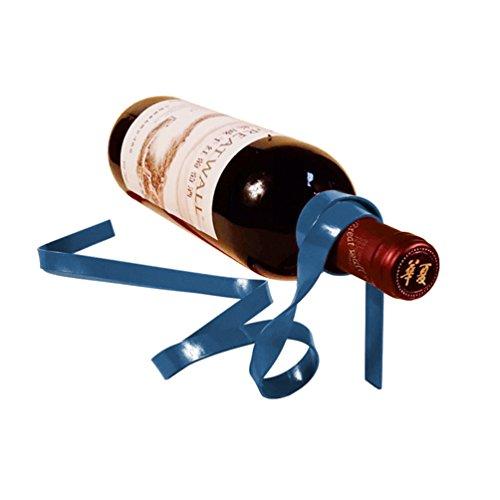 Sport Tent-Flaschenhalter lustiges Weinregal, Magisches Band Weinflaschenhalter aus Metall Flaschenständer Weinständer (Blau) -