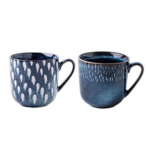 tasse becher luxuriöses hotel café 2 farben optional lichtluxus tasse büro die neue mode becher blau persönlichkeit kaffeetasse porzellan tasse g 375 ml * 2