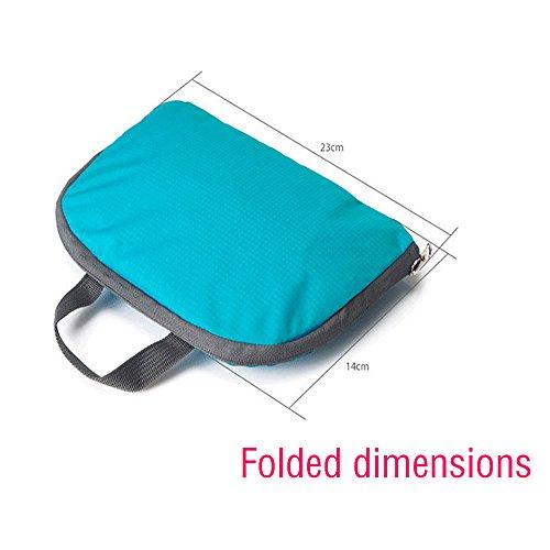 Zhongshanxy unisex ultraleggero Packable zaino Zaino sport borse TG901, Blue Green