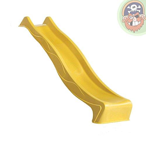Gartenpirat Wellenrutsche 230 cm Gelb für Podest 120 cm (+/-5 cm) TÜV