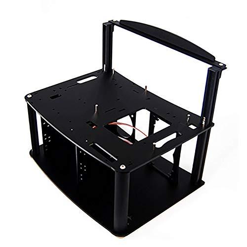 Electric Magic ATX-Gehäuse mit offenem Gehäuse, Acryl, durchsichtig, HTPC, offenes Gehäuse, Persönlichkeit, PC Testbank, offener Rahmen schwarz Matte Black 3N