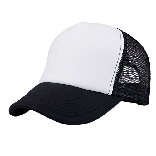 Leisial Mujer Casual Gorra de Béisbol de Viajes Hats Hip Hop Sombrero Sol al Aire Libre Tenis Deporte Golf Verano para Unisex Hombre Mujer,Negro
