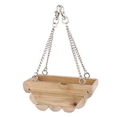 Holzhänge Boot Schaukel Maus Papagei Vogel Katze Hamster Käfigbett Spielzeug