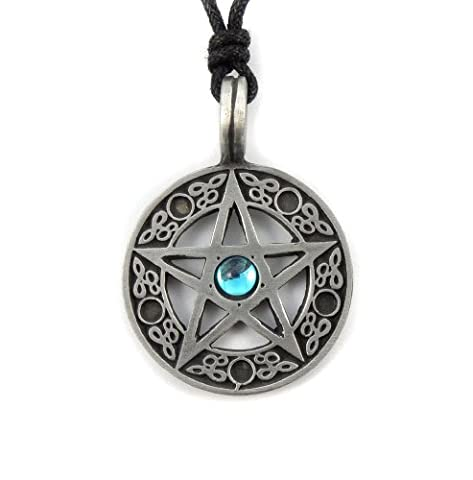 Pewter Celtic Pentagram Pentacle Pagan Wiccan Pendant Necklace
