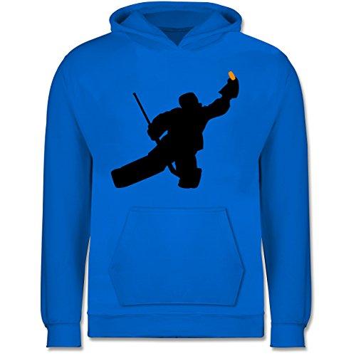 Sport Kind - Towart Eishockey Eishockeytorwart - 7-8 Jahre (128) - Himmelblau - JH001K - Kinder Hoodie