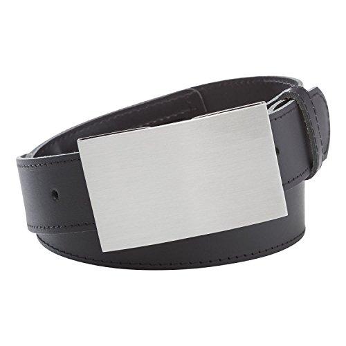 INVIDA Herren Tresor Gürtel SAFE mit RFID Kartenfachschließe SCHWARZ 90cm Bundweite