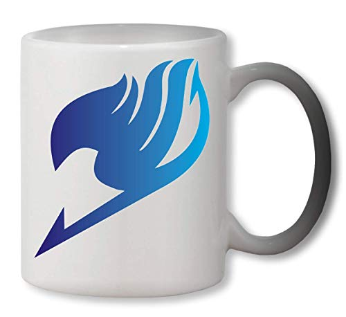 PasTomka Fairy Tail Blue Gradient Heat Mug Color Changing Cup Farbwechsel Tasse