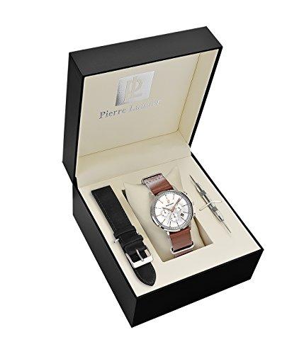 PIERRE LANNIER Homme Chronographe Quartz Montre avec Bracelet en Cuir 376A124