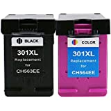 Generic Remanufacturado Cartuchos de tinta para HP 301X L 301XL V1Conjunto de Alta Capacidad y negro color Envy 4507e-AiO 4643(1Negro Y 1Color)
