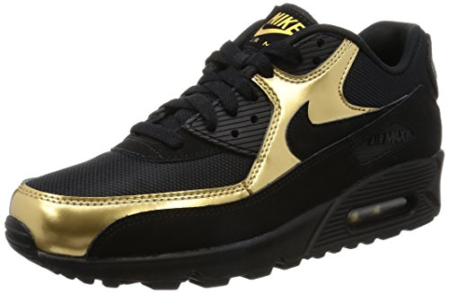 Nike Air Max 90 Essential Schuhe black-metallic gold-black - 43