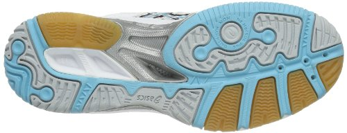 Asics - Scarpe da pallavolo GEL-TACTIC, Donna Bianco (Weiß (Weiß / silber / blau))
