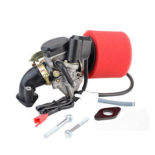 Goofit PD18J 18mm Vergaser Luftfilter Ansaugstutzen Gaszug Montage Kit für 50cc Scooter Go Karts Moped