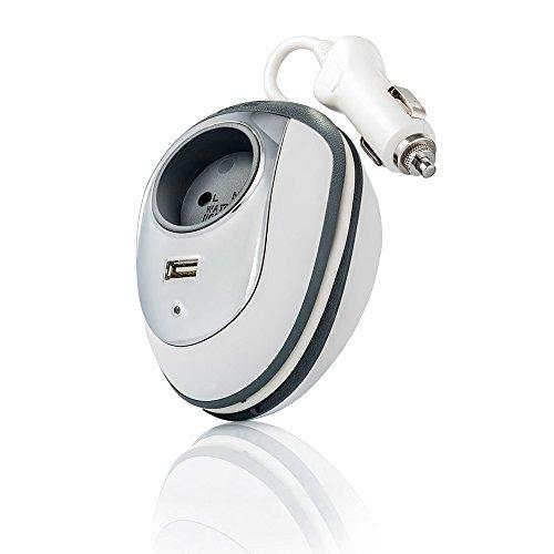 150W Auto Spannungswandler Wechselrichter 12V auf 230V inklusive Zigarettenanzünder Stecker mit 1 USB Autoladegerät