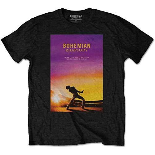 Queen Freddie Mercury Bohemian Rhapsody Pose offiziell Männer T-Shirt Herren (X-Large) - Rhapsody Tee